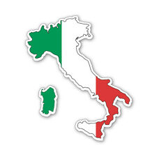 ITALY MAP SILHOUETTE FLAG VINYL CAR VAN IPAD LAPTOP STICKER