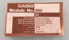 Manual De Instrucciones Casio Modulo 880 Para Reloj JC-11