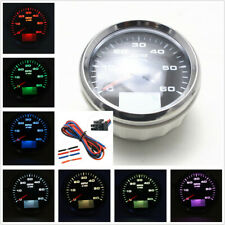 0~6000RPM Autos Motorcycle Digital 85mm Tachometer 8-Color Backlight Rev Counter