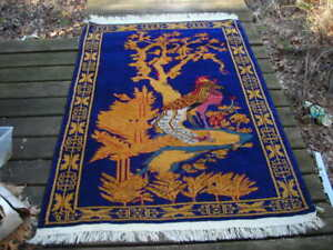 UNIQUE SUPERB QUALITY VINTAGE WESTERN CHINESE ART DECO RUG 4X6