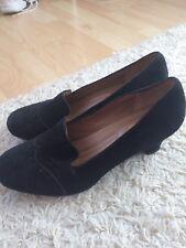 Hotter Ladies Follie black suede Shoes. Size 8/9