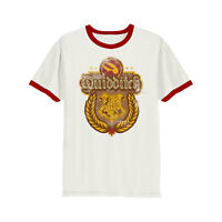 Official Harry Potter Quidditch T Shirt White NEW Hogwarts Ringer S L XL  XXL