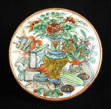 Boite décorée de festivités chinoise porcelaine Chine XIXe enamelled China box