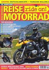 RM0602 + Test Zubehör BMW R 1200 GS + Test HONDA CBF1000 + REISE MOTORRAD 2 2006
