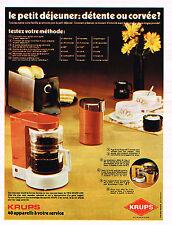 PUBLICITE ADVERTISING 014   1972   KRUPS   cafétière