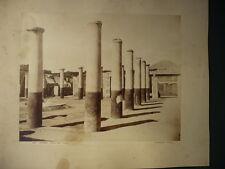 PHOTO ANCIENNE NAPOLI  POMPEI  ITALIE  SOMMER 1880