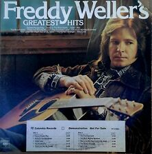FREDDY WELLER - GREATEST HITS - COLUMBIA LP - WHITE LBL PROMO + TIMING STRIP