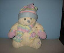 "18"" Animal Alley Toys R' Us Stuffed Plush White Pastel Knit Scarf Boy Snowman"