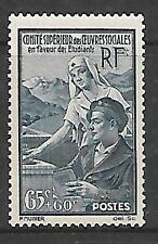 FRANCE - 1938.  Students' Fund - 65c+60c. Single, MNH