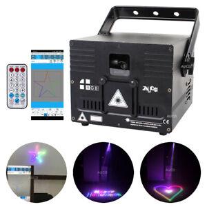 APP Program RGB Animation DMX Projector ILDA Bluetooth DJ Party Club Stage Light
