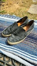 FRYE Distressed Black Slip On leather sneakers Shoes 9.5