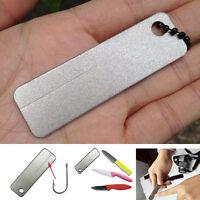 EDC Taschen-Diamant-Stein Stahl Sharpener Keychain for Angelhaken Tool New