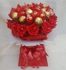 XLarge Red Luxury Lindt Lindor & Ferrero Rocher Chocolate Bouquet- Gift hamper