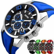 Men's Big Dial Wrist Watch Date Quartz Analog Army Casual Dress Wrist Watches