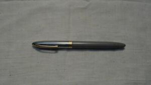 """Vintage Sheaffer White Dot 5 1/2"""" Fountain Pen Chrome Lid Gray Barrel Sheaffer's"""