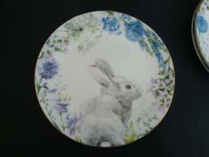 "NEW Williams Sonoma Floral Meadow Wreath Appetizer Plate 6 1/2""-3 available"