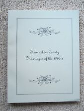 Hampshire County Marriages of the 1800's