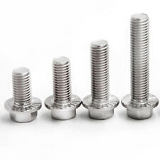 2-4PCS 304 Stainless Steel Size M4 M5 M6 M8 Hex Head Flange Bolts Cap Screws