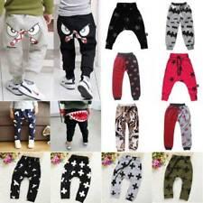 Toddler Kids Boys Girls Harem Pants Casual Cotton Sport Leggings Baggy Trousers