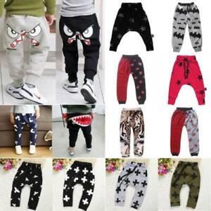 Toddler Kids Boy Girls Harem Pants Casual Cotton Sport Legging Baggy Trouser New