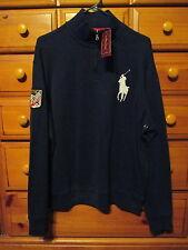 Mens Ralph Lauren POLO LS Blue French Rib Sweatshirt Jacket Sz L NwT $125