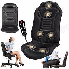 Massage Seat Cushion Back Stress Relax 6 Motor Chair Pad Lumbar Heat Massager