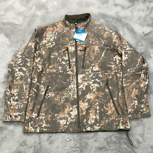 New Columbia Gallatin Lite Jacket Mens Timberwolf Digital Camo Oak Brown Size M