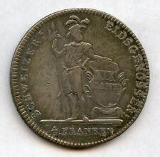 Suisse Cantons 1814 Luzern 4 Franken Thaler Beau Original Tonifiant Vf-Xf