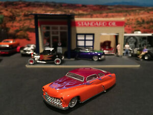 1:64 Hot Wheels Limited Ed 1949 49 Merc Mercury Orange Maroon w/ Flames Legends