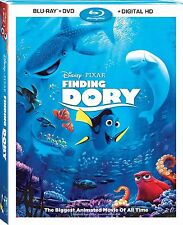 Finding Dory (Blu-ray + DVD + Digital HD) 2 Hours of Bonus Material - Brand New
