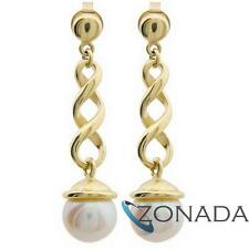 Freshwater Pearl 9ct 9k Solid Yellow Gold Drop Earrings 54328