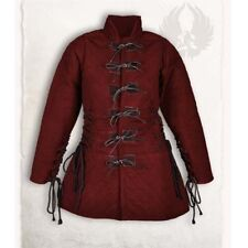 Beautiful Thick Padded Red Gambeson Play Movies Medieval Theater Custome Sca Lp8