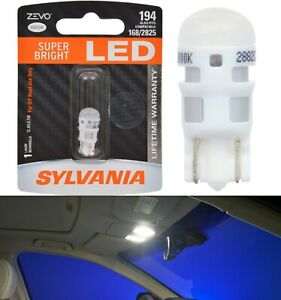 Sylvania ZEVO LED light 194 White 6000K One Bulb Interior Map Upgrade Lamp Fit