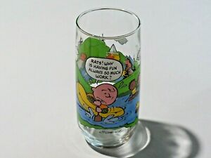 Vintage McDonald's Camp Snoopy Collection Drinking Glass Schulz Charlie Brown L2