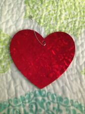 Lot Of 12 Prism Sparkle Pressed Board Valetines Day Heart Decorations Large