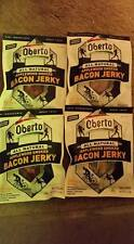 4) BAGS-Oberto All Natural Applewood Smoked Bacon Jerky 2.5 Ounce Exp SEP 2018