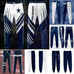 Dallas Cowboys Football Loose Casual Pants Fans Sports Jogging Training Pants