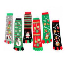Christmas Novelty Toe Socks Santa Claus Snowman Owl Funny Socks Xmas Gift
