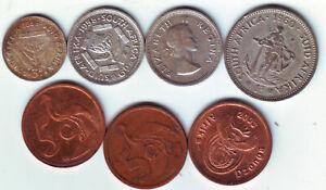 Südafrika 7 Kursm. Elisabeth II-Republik-Pence- Cents - Schillig 1957-2007AG-CU