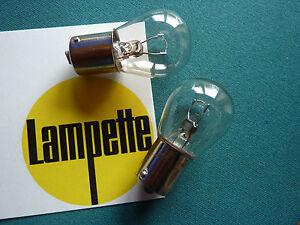 2 x Glühlampe 6V15W  klar- das Leuchtmittel für Ihre Lampette