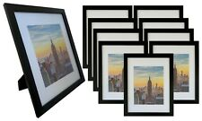 Frame Amo 11x14 Black Wood Picture Frame, Mat for 8x10, 1 inch Wide,1, 3,10 PACK