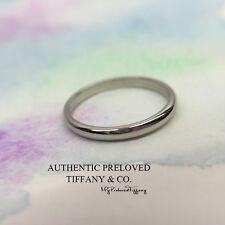 Mint Tiffany & Co. Lucida Platinum Pt950 Classic Wedding Band Ring 2mm #4 RP850