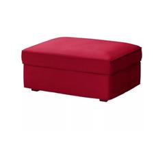 Original SLIPCOVER for KIVIK Footstool (Ottoman) from IKEA,Dansbo Medium Red,NEW