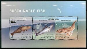 Australia 2019 MNH Sustainable Fish Fishing 3v M/S Boats Ships Marine Stamps