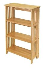 Winsome Foldable 4-Tier Shelf, Natural 82427 New