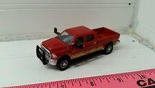 1/64 CUSTOM red DODGE Cummins 2500 diesel loaded pickup truck ERTL farm toy