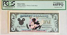 1990D $1 Mickey Disney Dollar PCGS Graded Very Choice New 64PPQ D00155692A