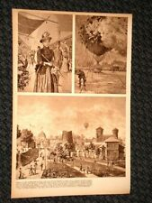 Esposizione di Torino del 1884 Galleria musica e lavoro, scoppio pallone, Faccio