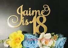 Personalized Custom Birthday Cake Topper - 18th 21st Any Age