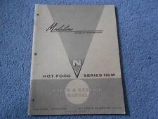 Moduline Hot Food Series Hcm Parts & Service Manual National Vendors Umc